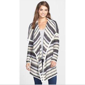 Kensie open front stripe sweater